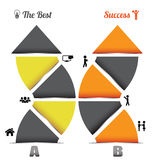 Business arrow with icon Royalty Free Stock Images
