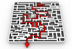 Business arrow solved the maze Royalty Free Stock Photo