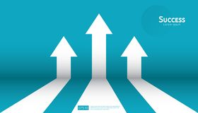 Business arrow target direction concept to success. Finance growth vision stretching rising up. banner flat style vector. Illustration. Return on investment ROI royalty free illustration