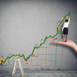 Business arrow upwards Stock Images