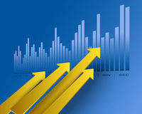 Business arrows. Financial and business chart and graphs Stock Photography