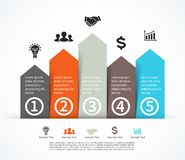 Business arrows infographic, diagram, graph Royalty Free Stock Photo