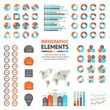 Business arrows infographic, diagram, graph Royalty Free Stock Images