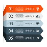 Business arrows infographic, diagram, graph Royalty Free Stock Photography