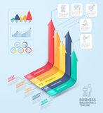 Business arrows infographics template. Can be used for workflow layout, diagram, number options, web design and timeline Stock Images