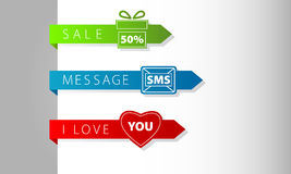 Business arrows modern navigation items new Royalty Free Stock Photography