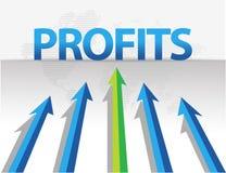 Business arrows target profits illustration. Design Vector Illustration