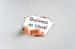 Business as usual text concept Royalty Free Stock Photo