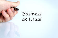 Business as usual text concept Stock Photo