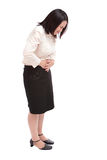 Business asian woman with menstruation issues Royalty Free Stock Image