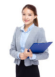 Business assistant with clipboard Royalty Free Stock Photos