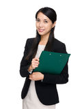 Business assistant with clipboard Stock Photos