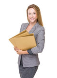 Business assistant with folder Stock Photos
