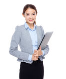 Business assistant with laptop Royalty Free Stock Images