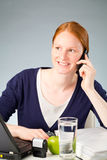 Business Assistant or Secretary on the Phone Stock Images