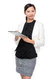 Business assistant use of tablet Stock Photos
