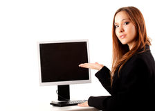 Business assistant working on the computer Royalty Free Stock Image