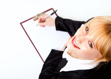 Business assistant writting Royalty Free Stock Photo