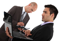 Business associates. Preparing before a meeting Royalty Free Stock Images