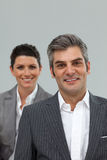 Business associates standing in a line Royalty Free Stock Photography