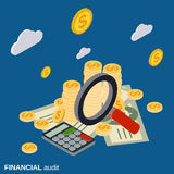 Business audit, analytics, financial statistic vector concept Stock Images