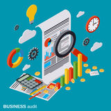 Business audit, financial analytics, statistics vector concept. Business audit, financial analytics, statistics flat isometric vector concept. Modern web Stock Photography