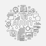 Business audit round illustration Royalty Free Stock Images