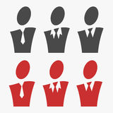 Business avatar set Royalty Free Stock Image