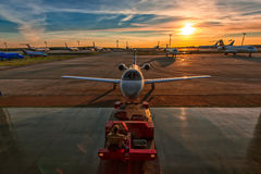 Business Aviation. In Moscow airport Domodedovo Royalty Free Stock Images