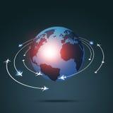 Business Aviations-Hintergrund lizenzfreie abbildung