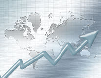 Business Background. With world map Stock Photography