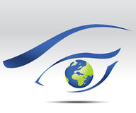 Business Background. Vector illustration of eye logo, future vision Royalty Free Stock Photos
