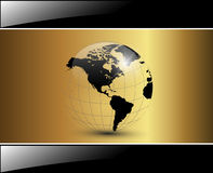 Business background. Elegant glossy gold Stock Photo