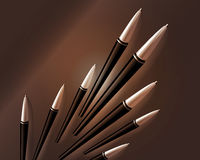 Business background. Set of pens going up Royalty Free Stock Photo