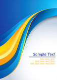 Business background. Abstract clean business background in yellow orange and blue colors with space for text. Additional full editable vector .EPS file included Stock Images