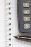 Business background. With fountain pen and calculator Stock Image