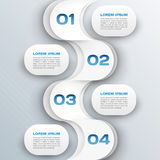 Business background - abstract 3d paper infographics template Royalty Free Stock Photography