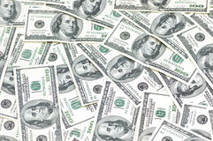 Business background with american dollars Royalty Free Stock Image