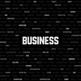 Business background with business keywords Stock Images