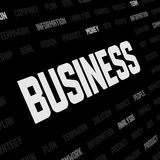 Business background with business keywords Royalty Free Stock Photography