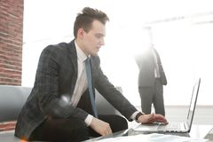 Business concept.determined young businessman Royalty Free Stock Image