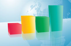Business background with chart Royalty Free Stock Image