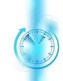 Business background with clock Stock Photo