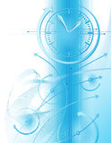 Business background with clock. Abstract illustration with clock and business chart Stock Photography