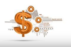 Business Background with Dollar Royalty Free Stock Image
