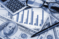 Business background. Financial data concept with diagram and Stock Photo