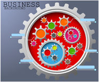 Business background of Gears infographic background Stock Photo