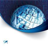 Business background with globe Stock Images