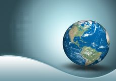 Business background with globe. Business background with three dimensional original like planet earth generated by me Stock Images