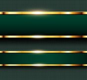 Business background green and gold Royalty Free Stock Image